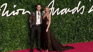 Jon Kortajarena And Stella Maxwell On The Red Carpet For The British Fashion Awards In London