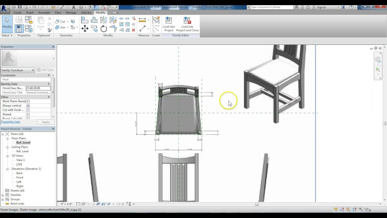 revit how to create hole in furniture