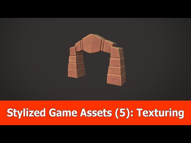 Stylized Game Assets (5) : Texturing with Substance Painter & Free Model