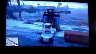 GTA 5 shipping container forklift location.!!!