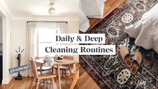 Daily & Deep Cleaning Routines + PRINTABLE GUIDE