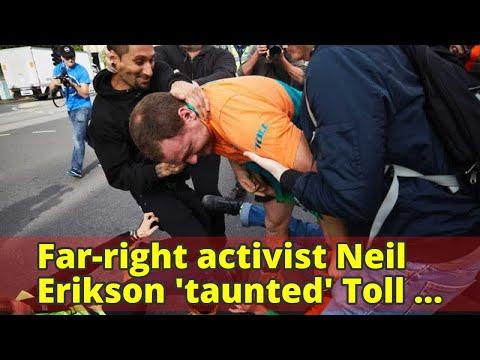 Far-right activist Neil Erikson 'taunted' Toll by wearing old work shirt during Sam Dastyari ambush,