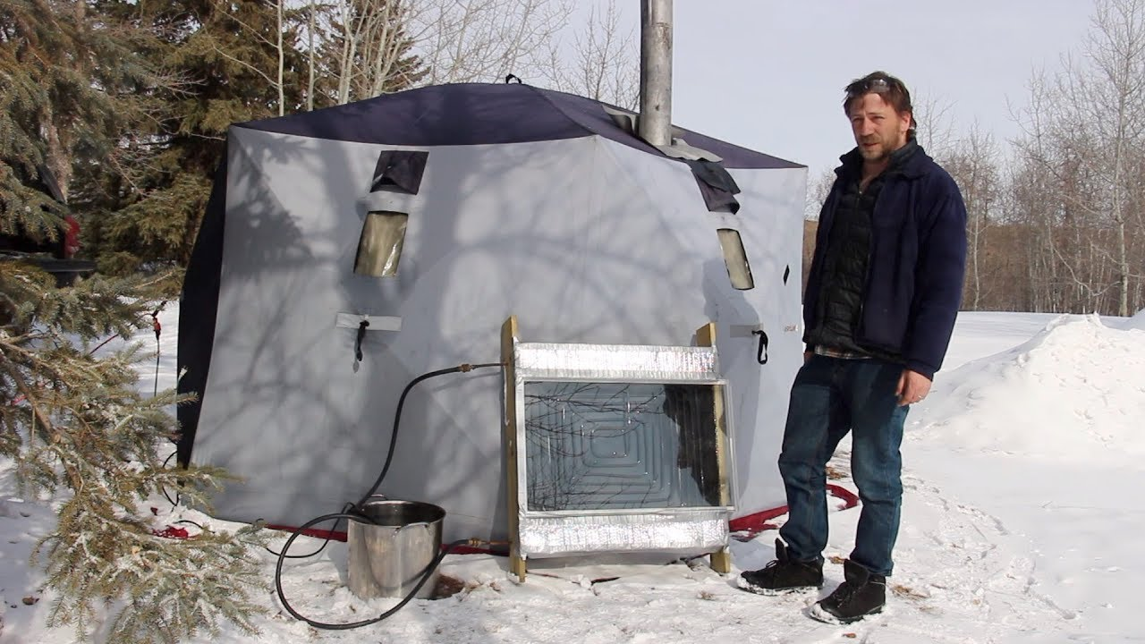 8 Weeks Winter Camping Solar Water Heater Tent Amp Wood