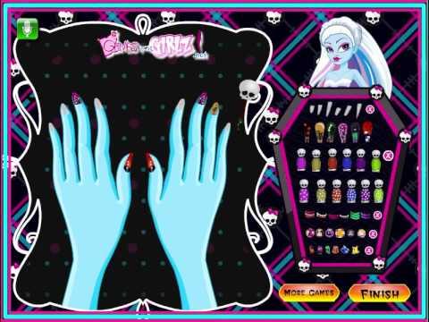 Juego de Vestir Monster High Manicura Gratis Online  YouTube