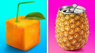 26 FANTASTIC FOOD HACKS    DIY SQUARE FRUITS