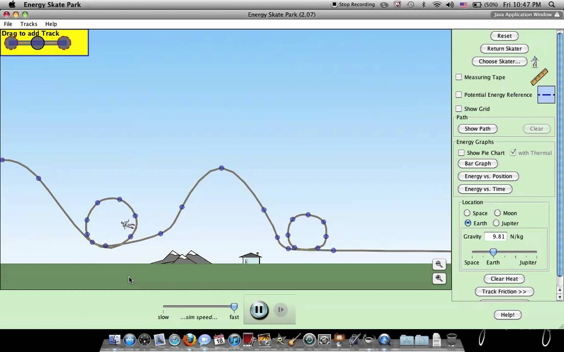 PhET Skater Simulation - YouTube