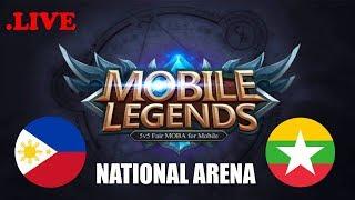 Myanmar vs Philippines National Arena & Rank Game | MOBILE LEGENDS