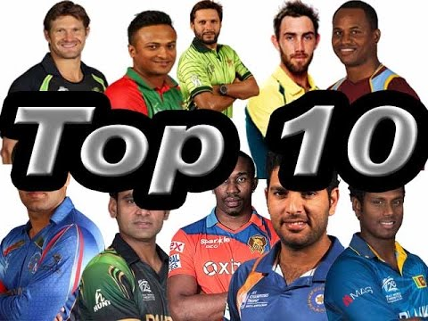 ICC Top 10 T20 All-rounders 2016 in the World,Top 10 ICC T20 Batsman Cricket Rankings in 2016