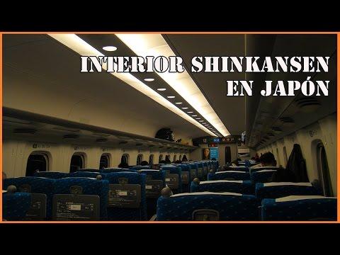 Interior Shinkansen (trenes bala) en Japón