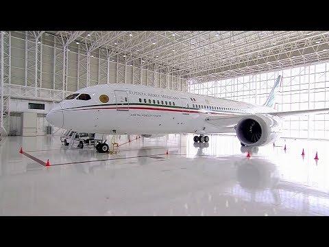 El presidente mexicano, Andrés Manuel López Obrador, puso en venta el avión presidencial