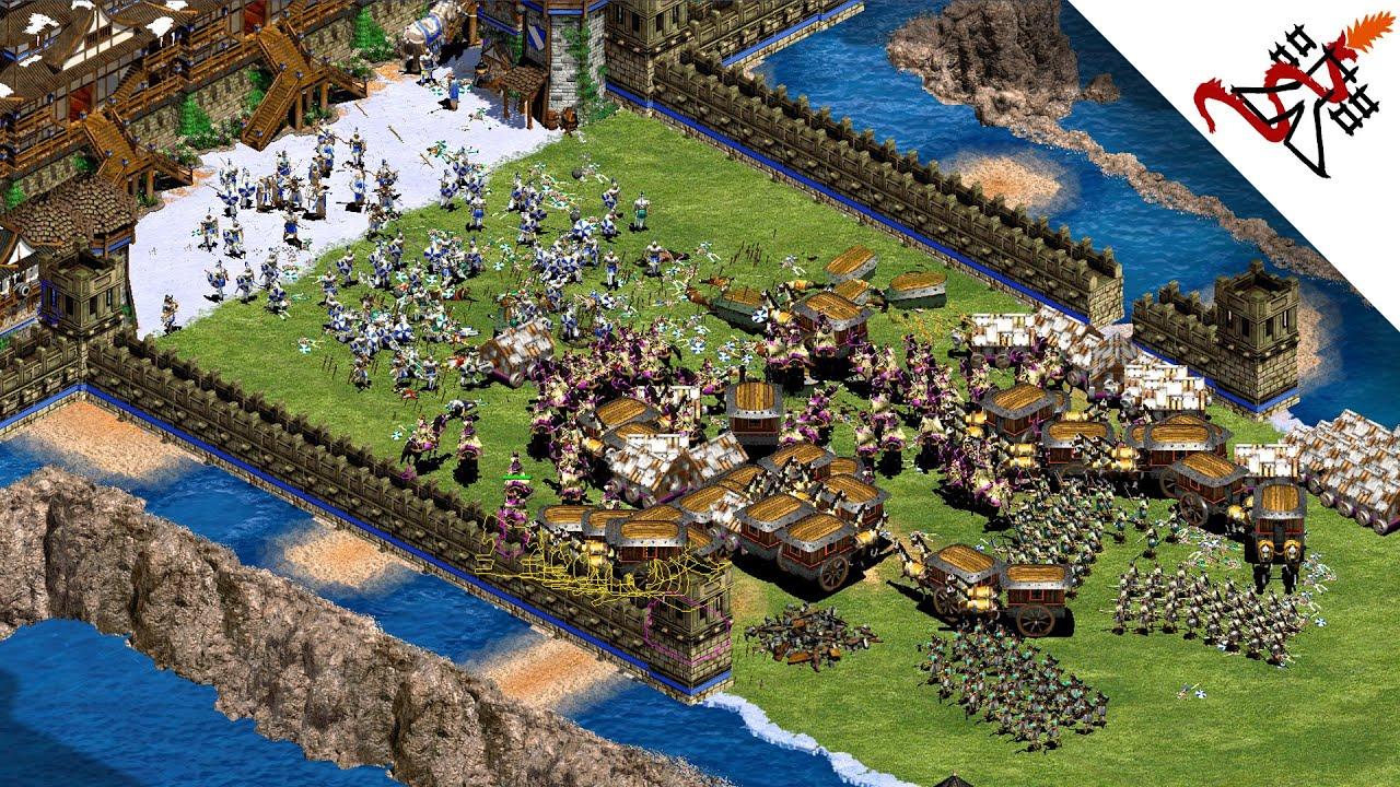 Age Of Empires 2 - 4vs4 INSANE BATTLE