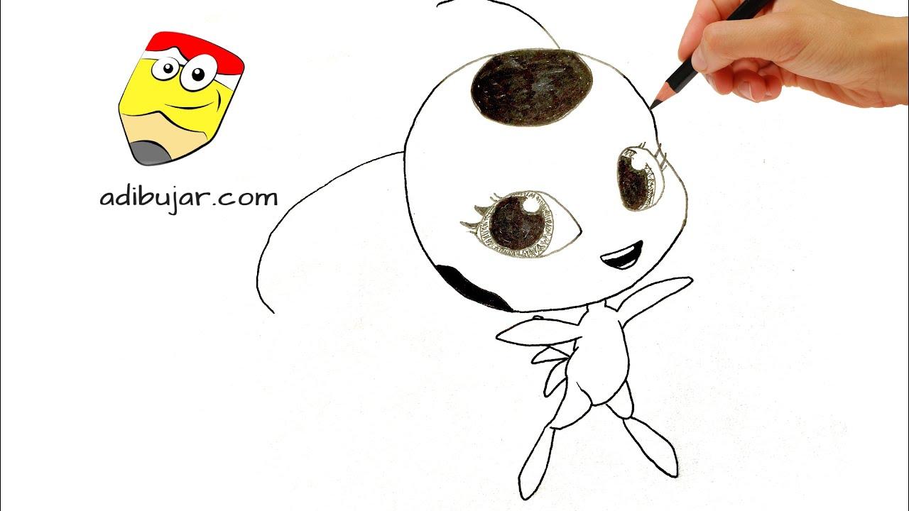Ladybug Como Dibujar A Tikki Kwami A Lapiz Facil Paso A Paso