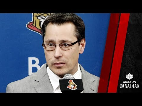 Sens vs. Sharks – Coach Post-game