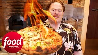 Casey Chows Down On Scorching Hot Ghost Pepper Pizza | Man v Food
