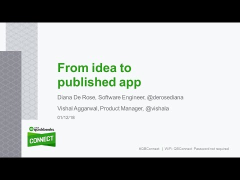 Intuit Developer Friday Morning Hangout – Guests Vishal and Diana: From Idea to Published App