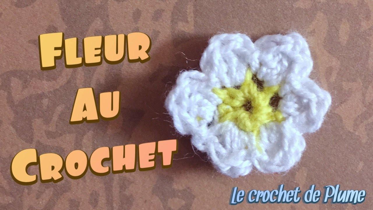 tuto modele de fleur au crochet facile en francais 6 petales