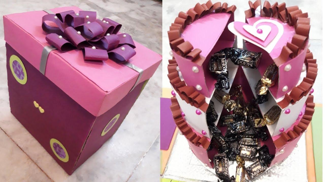 1st Anniversary Gift Idea Handmade Wedding Gift Box Gift Ideas By Craftworld Youtube
