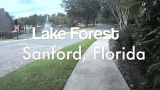 Lake Forest Community Tour, Sanford, Florida (HD POV)