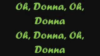 Ritchie Valens - Oh Donna lyrics on screen