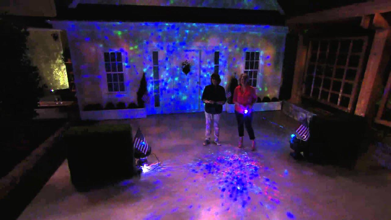 Set of 2 Indoor Outdoor Kaleidoscope Lightshow Projectors with Jill