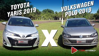 Volkswagen Polo 1.0 Tsi 2019 Vs Toyota Yaris Xs 1.5 2019  Qual É Melhor? |  Comparativo Topspeed