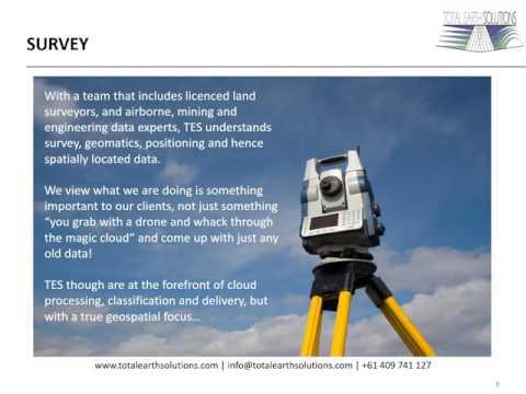 UAV LIDAR SURVEY GIS