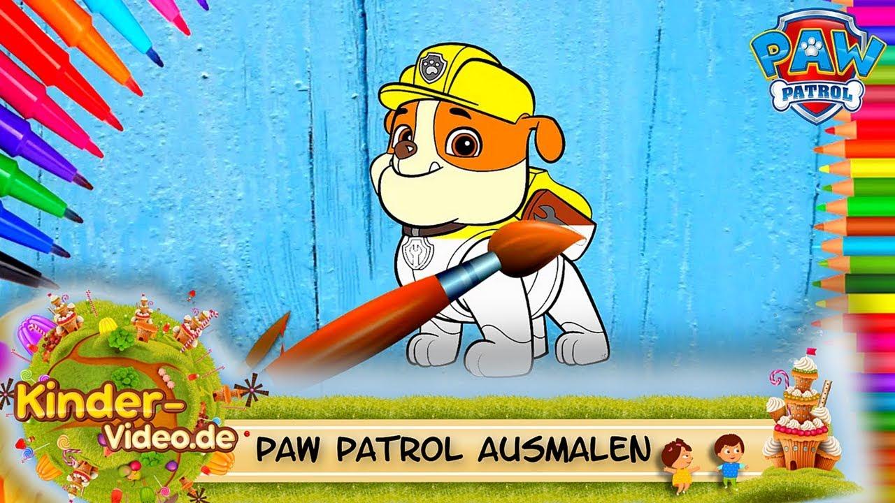 Paw Patrol ausmalen für Kinder auf Deutsch & Finger Family Lied ...