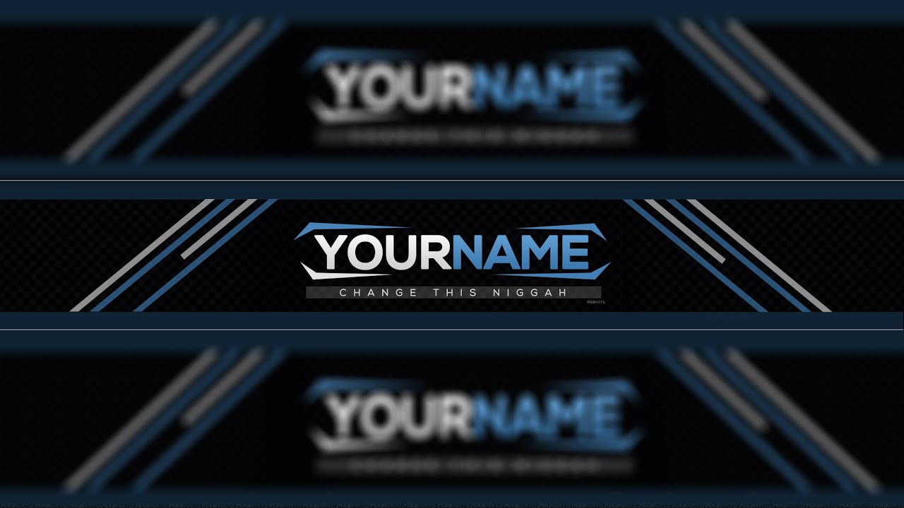 SpeedArt] FREE Amazing Youtube Channel Banner Template #14 + Direct ...