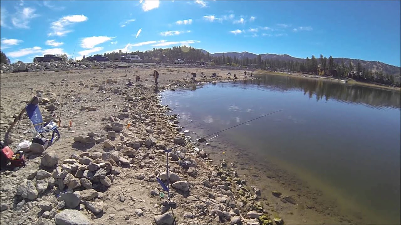 Big Bear Lake Trout Fishing 10 5 2014 Youtube