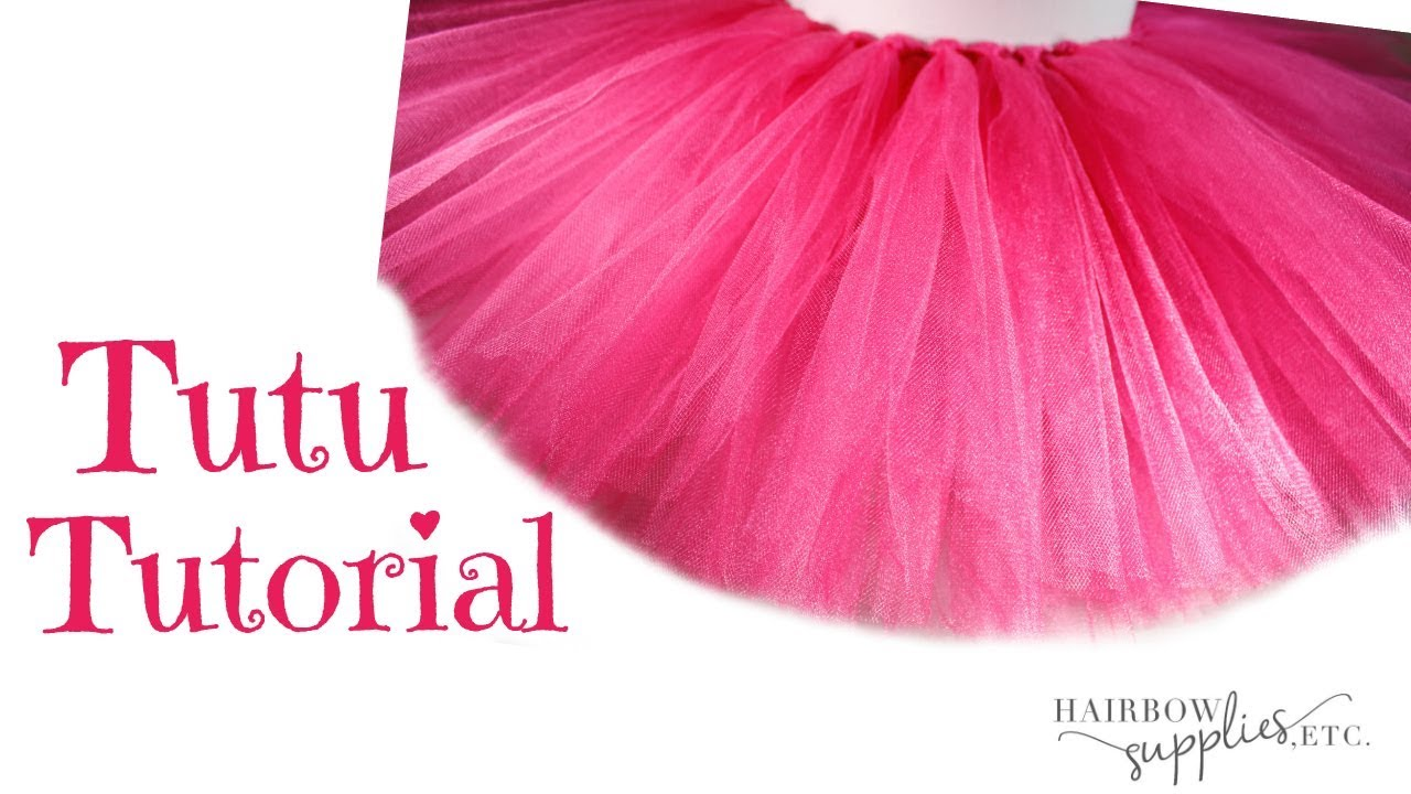 How To Make A No Sew Tutu Diy Fluffy Tutu Skirt With Tulle Tutorial Hairbow Supplies Etc
