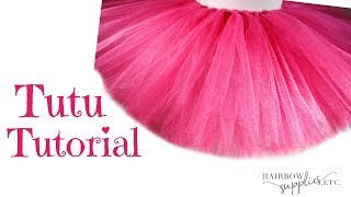Gambar cover How to Make a No Sew Tutu - DIY Fluffy Tutu Skirt with Tulle Tutorial - Hairbow Supplies, Etc.