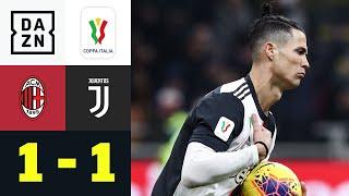 Rebic-Tor zu wenig - CR7 erst akrobatisch, dann eiskalt: AC Mailand - Juventus | Coppa Italia | DAZN