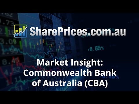 Share Prices Market Insight: Commonwealth Bank of Australia (CBA) 1/11/16