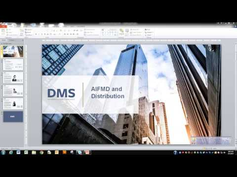 DMS Webinar: AIFMD and Distribution