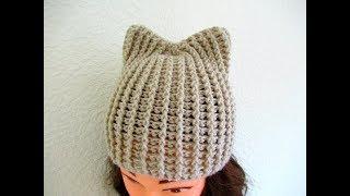 Easy crochet hat with ears tutorial Child Kids 3-10 years Happy Crochet Club