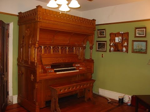 1891 Mason & Risch Vocalion Reed Organ #721 Stop-by-stop Demo
