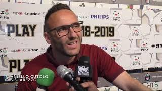 Play-off / Pisa-Arezzo 1-0, intervista a Nello Cutolo
