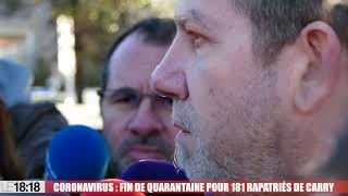 Coronavirus : fin de quarantaine pour 181 rapatriés à Carry