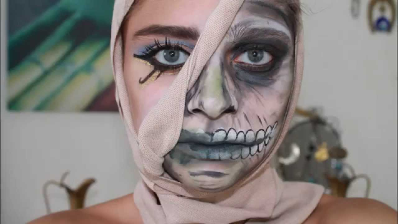 Timelapse Maquillage D 39 Halloween Momie Youtube
