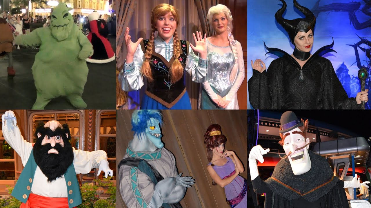 character montage of 24 hour disney side party w anna