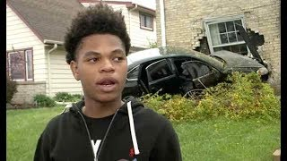 Whoa: 17 Year Old's Car Gets Stolen & Rammed Into A Home In Milwaukee!