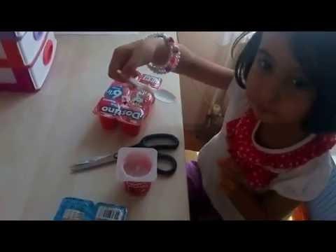 Yoğurt Challenge - Meyveli yoğurtları tattık - Çocuk videosu Türkçe izle - Demirel MEDYA