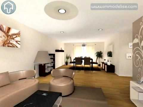 Visite virtuelle 3d salon sejour 2 youtube - Plan de sejour salon ...