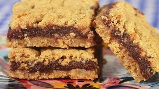 Date Squares Recipe Demonstration - Joyofbaking.com