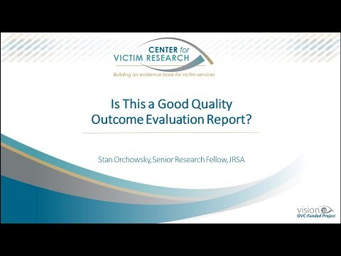 Is This a Good Quality Outcome Evaluation Report?
