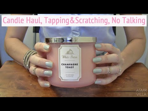 ASMR * Theme: Candle Haul * Tapping & Scratching * Fast Tapping * No Talking * ASMRVilla