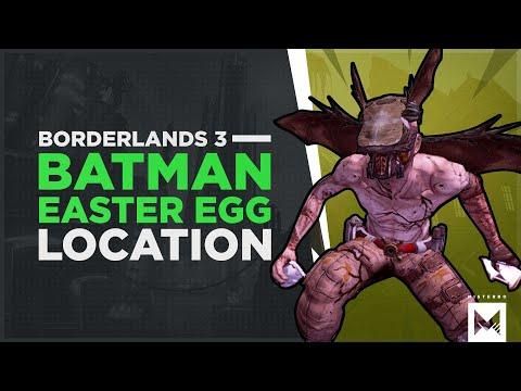 BORDERLANDS 3: I'm Rakkman And The Rakk Cave, Batman Easter Egg Location