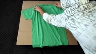 Tシャツが綺麗にたためる自作マシーン