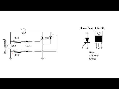 Silicon Control Rectifier SCR Basic AC Circuit
