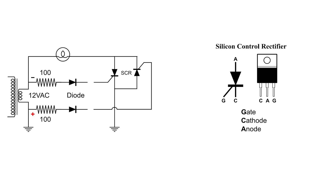 Silicon Control Rectifier SCR Basic AC Circuit  YouTube